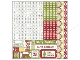 "Echo Park Paper Company Alphabet Stickers: Echo Park Sticker 12""x 12"" This & That Christmas Alphabet (15 sets)"