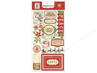 "Clearance paper dimensions: Echo Park Chipboard 6""x 12""  This & That Christmas (3 sets)"