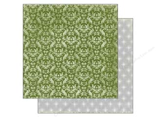 Echo Park Paper 12x12 Christmas Green Damask (25 piece)