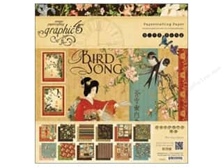 fall sale graphic 45: Graphic 45 Bird Song 12 x 12 in. Paper Pad