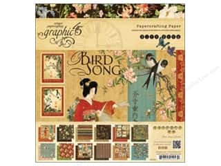 button: Graphic 45 Bird Song 8 x 8 in. Paper Pad