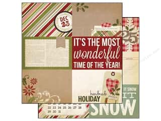 Simple Stories Paper 12 x 12 in. Handmade Holiday Card #2 (25 piece)