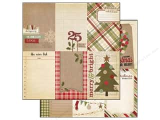 Simple Stories Paper 12 x 12 in. Holiday Vertical Card (25 piece)