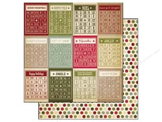 Simple Stories Paper 12 x 12 in. Bingo Cards/Dots (25 piece)