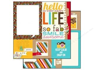 Mats Captions: Simple Stories Paper 12 x 12 in. Snap Life Quote/Photo Mat Elements (25 pieces)