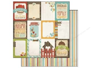 Simple Stories Paper 12x12 Harvest Lane Flash Card (25 piece)