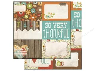 Simple Stories Paper 12 x 12 in. Harvest Lane Card #1 (25 piece)