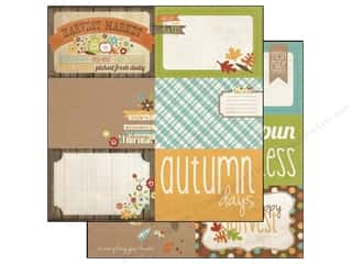 Simple Stories Paper 12 x 12 in. Harvest Lane Card #2 (25 piece)