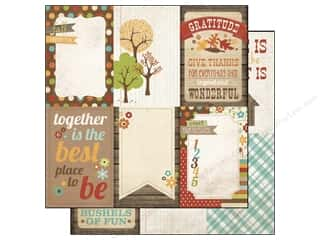 Simple Stories Paper 12 x 12 in. Harvest Lane Vertical Card (25 piece)