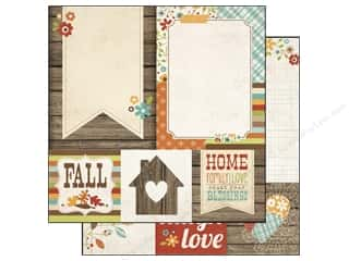 Simple Stories Paper 12 x 12 in. Harvest Lane Quote/Photo (25 piece)