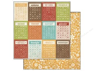 Simple Stories Paper 12 x 12 in. Harvest Lane Bingo Cards (25 piece)