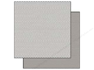 "Simple Stories Papers: Simple Stories Paper 12""x 12"" Snap Color Vibe Chevron/Mini Dot Grey (25 pieces)"