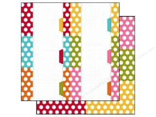 Simple StoriesPaper 12 x 12 in. Snap Color Dot/Stripe Card  #1 (25 piece)