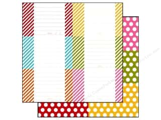 Simple Stories Paper 12 x 12 in. Snap Color Dot/Stripe Card #2 (25 piece)