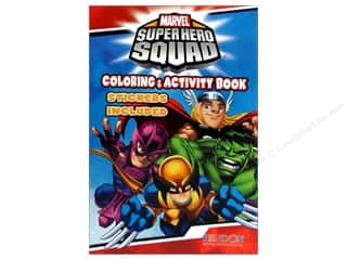Activity Books / Puzzle Books: Coloring & Activity Sticker Super Hero Book (3 piece)