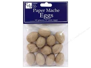 Paper Mache Egg by Craft Pedlars 37mm 12pc