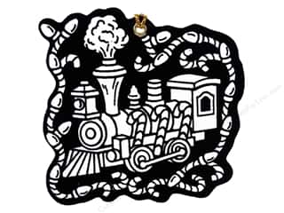 Stuff2Color Ornament Die Cuts Train