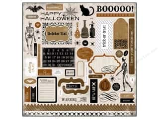 Theme Stickers / Collection Stickers: Carta Bella Sticker 12 x 12 in. All Hallow's Eve Elem (15 set)