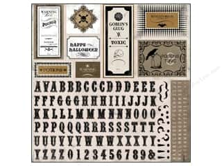 Carta Bella ABC & 123: Carta Bella Sticker 12 x 12 in. All Hallow's Eve Alphabet (15 sets)