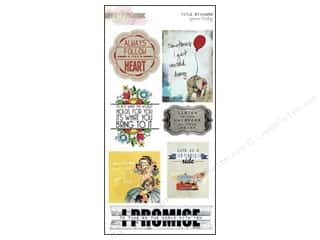 Scrapbooking & Paper Crafts Designer Papers & Cardstock: Glitz Design Sticker Cardstock Yours Truly Titles
