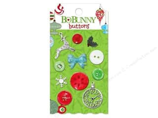 Bo Bunny Buttons Mistletoe