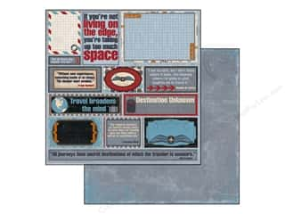 Outdoors Bo Bunny 12 x 12 in. Paper: Bo Bunny 12 x 12 in. Paper Detour Collection Quotes (25 pieces)