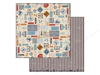 Bo Bunny Paper 12x12 Detour Recalculating (25 piece)
