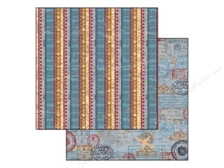Bo Bunny Paper 12x12 Detour Stripe (25 piece)