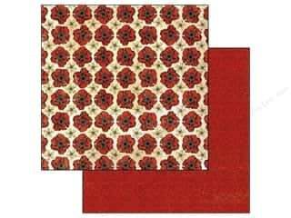 Bo Bunny Paper 12x12 Serenade Poppies (25 piece)