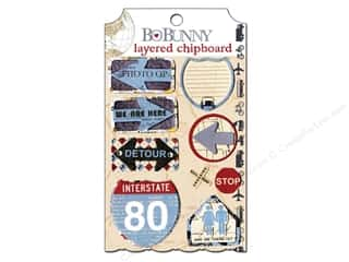 Bo Bunny Chipboard Stickers Layered Detour