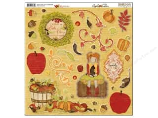 Bo Bunny Sticker Chipboard 12x12 Apple Cider