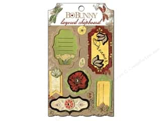 sticker: Bo Bunny Chipboard Stickers Layered Serenade