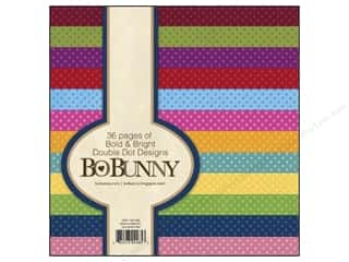 Scrapbooking & Paper Crafts: Bo Bunny 6 x 6 in. Paper Pad Bold & Bright