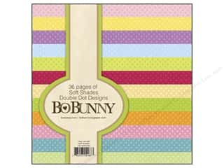 "Bo Bunny Paper Pad 6""x 6"" Double Dot Soft Shades"