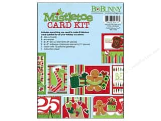 Blank Card & Envelopes: Bo Bunny Card Kit Mistletoe