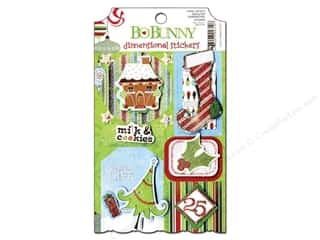 Bo Bunny Sticker Cardstock 3D Mistletoe