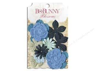 Bo Bunny Flower Blossom Bouquet Denim Blue
