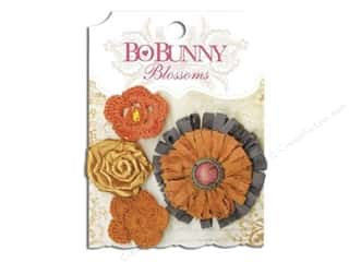 Bo Bunny Blossoms Dahlia 4 pc. Harvest Orange