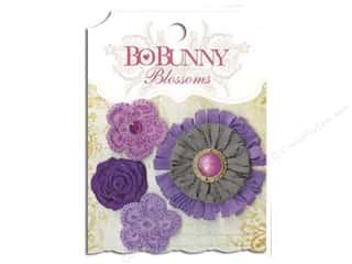 Flowers / Blossoms $3 - $4: Bo Bunny Blossoms Dahlia 4 pc. Plum Purple