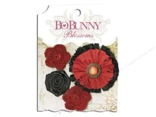 Flowers / Blossoms $3 - $4: Bo Bunny Blossoms Dahlia 4 pc. Wildberry