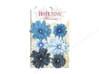 Bo Bunny Flowers / Blossoms: Bo Bunny Blossoms Daisy 6 pc. Denim Blue