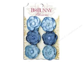Bo Bunny Blossoms Pansy Denim Blue