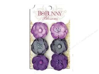 Flowers / Blossoms $5 - $6: Bo Bunny Blossoms Pansy 6 pc. Plum Purple