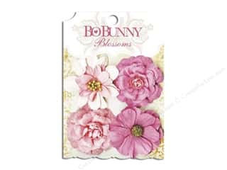 Bo Bunny $4 - $8: Bo Bunny Blossoms Zinnia 4 pc. Blush