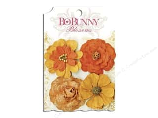 Bo Bunny $4 - $8: Bo Bunny Blossoms Zinnia 4 pc. Harvest Orange