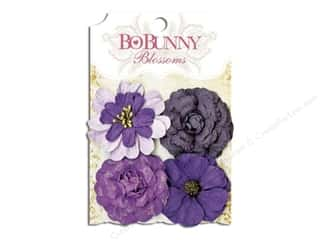 Bo Bunny $4 - $8: Bo Bunny Blossoms Zinnia 4 pc. Plum Purple