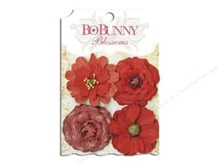 Bo Bunny $4 - $8: Bo Bunny Blossoms Zinnia 4 pc. Wildberry