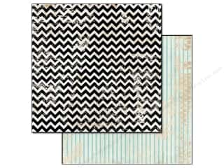 Glitz Design 12 x 12 in. Paper Cashmere Dame Chevron (25 piece)