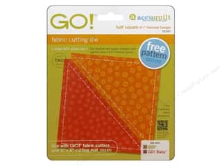 AccuQuilt Go Die Half Square Finish Triangle 4.5""
