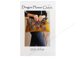 "Purses 14"": Purse Strings Dragon Flower Clutch Pattern"